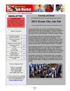 2015 Ocean City Job Fair