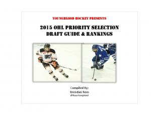 2015 OHL Priority Selection Draft Guide & Rankings