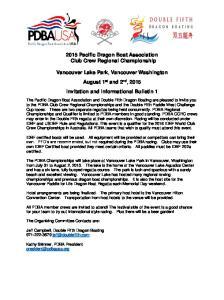 2015 Pacific Dragon Boat Association Club Crew Regional Championship