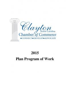 2015 Plan Program of Work