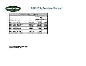 2015 Poly Furniture Pricelist