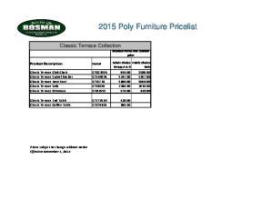 2015 Poly Furniture Pricelist
