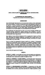 2015 ) POR EL CUAL SE AJUSTA EL DECRETO 0327 DE 2013 Y SE DICTAN OTRAS DISPOSICIONES