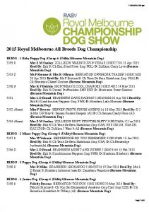 2015 Royal Melbourne All Breeds Dog Championship
