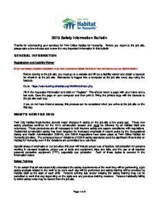 2015 Safety Information Bulletin