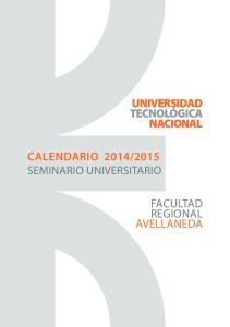 2015 SEMINARIO UNIVERSITARIO FACULTAD REGIONAL AVELLANEDA