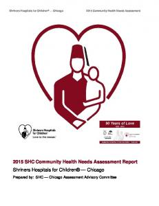 2015 SHC Community Health Needs Assessment Report
