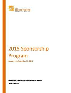2015 Sponsorship Program