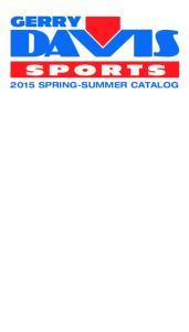 2015 SPRING-SUMMER CATALOG