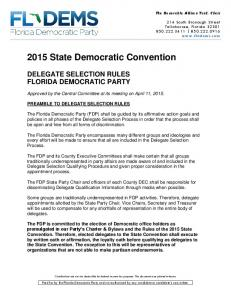 2015 State Democratic Convention