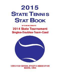 2015 STATE TENNIS STAT BOOK
