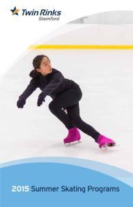 2015 Summer Skating Programs
