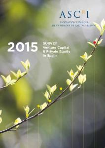 2015 SURVEY. Venture Capital & Private Equity in Spain