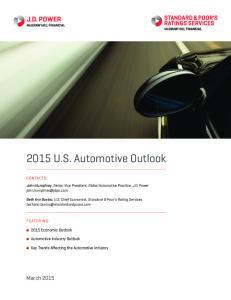 2015 U.S. Automotive Outlook