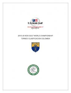 2015 US KIDS GOLF WORLD CHAMPIONSHIP TORNEO CLASIFICACION COLOMBIA
