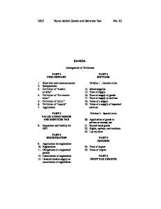 2015 Value Added Goods and Services Tax No. 43 SAMOA