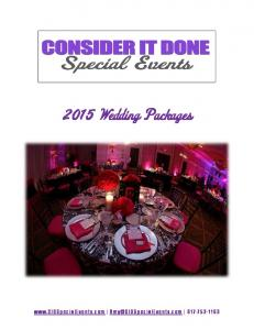 2015 Wedding Packages