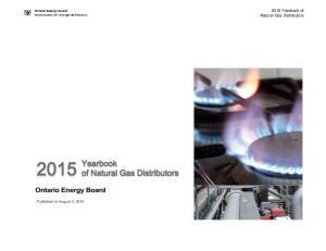 2015 Yearbook of Natural Gas Distributors