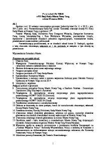 2015 z VII Sesji Rady Miasta Nowy Targ z dnia 23 marca 2015r