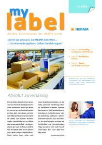2016 Aktuelle Informationen der HERMA GmbH