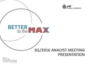 2016 ANALYST MEETING PRESENTATION