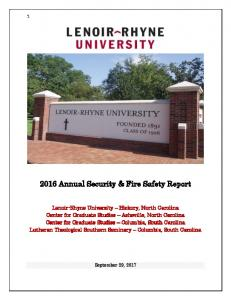 2016 Annual Security & Fire Safety Report