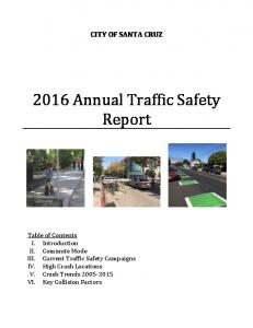 2016 Annual Traffic Safety Report