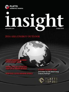 2016 ASIA ENERGY OUTLOOK