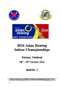 2016 Asian Rowing Indoor Championships