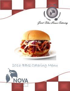 2016 BBQ Catering Menu