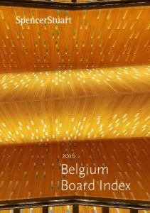 2016 Belgium Board Index