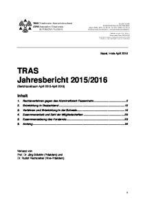 2016 (Berichtszeitraum April 2015-April 2016)