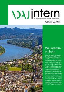 2016. Bonn als Geburtsstadt der Bundesrepublik Deutschland hat seine internationale