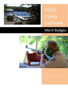 2016 Camp Jayhawk. Merit Badges
