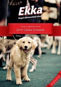 2016 Canine Schedule