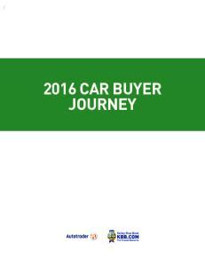 2016 CAR BUYER JOURNEY