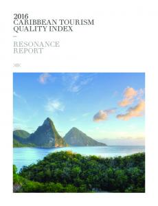 2016 CARIBBEAN TOURISM QUALITY INDEX RESONANCE REPORT