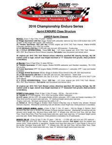2016 Championship Enduro Series