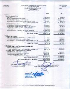 2016 (Cifras en pesos y centavos)