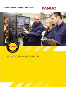 2016 CNC TRAINING CATALOG