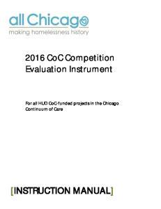 2016 CoC Competition Evaluation Instrument