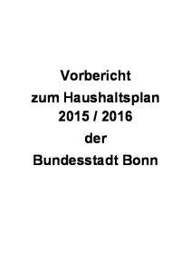 2016 der Bundesstadt Bonn