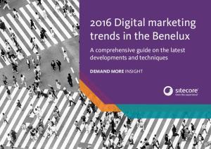 2016 Digital marketing trends in the Benelux