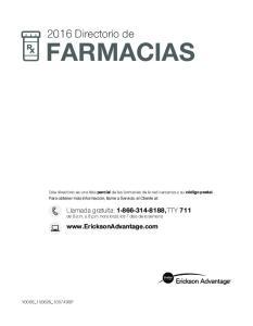 2016 Directorio de FARMACIAS