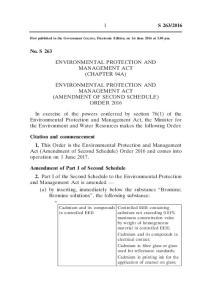 2016. Environmental Protection and