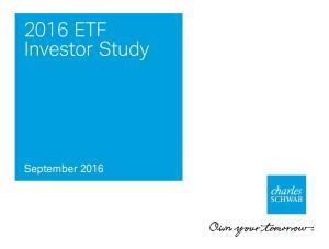 2016 ETF Investor Study. September 2016