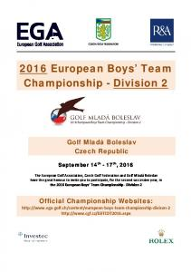 2016 European Boys Team Championship - Division 2