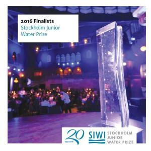 2016 Finalists Stockholm Junior Water Prize