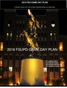 2016 FSUPD GAME DAY PLAN