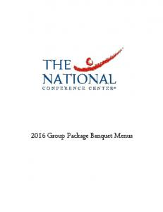 2016 Group Package Banquet Menus